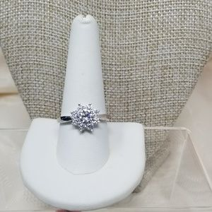 Jewelry - Simulated White Diamond Sterling Silver Ring